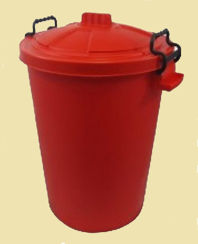 red dustbin